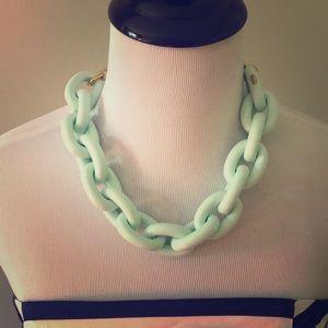 Authentic Coach MINT Large Chain Link Necklace
